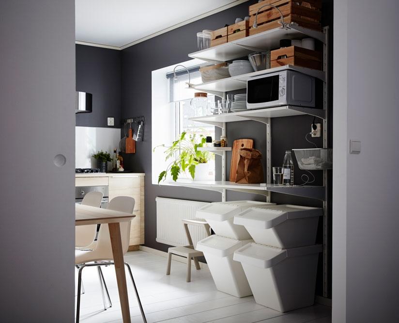 Кухня, где можно хранить и сортировать