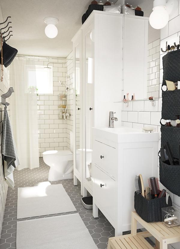 Традиционный стиль для небольшой ванной