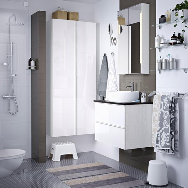 Идеально организованная  ванная