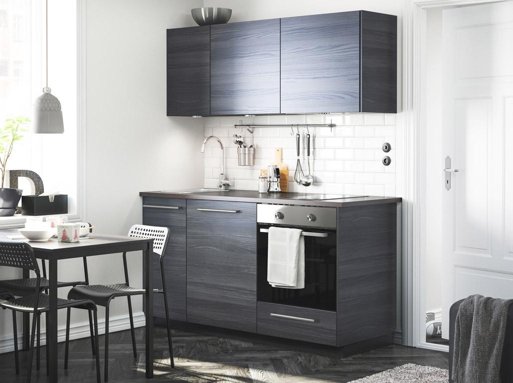 Современная кухня в темно-коричневом цвете
