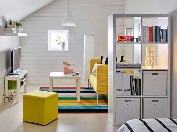 Разделите комнату, получив больше места для хранения