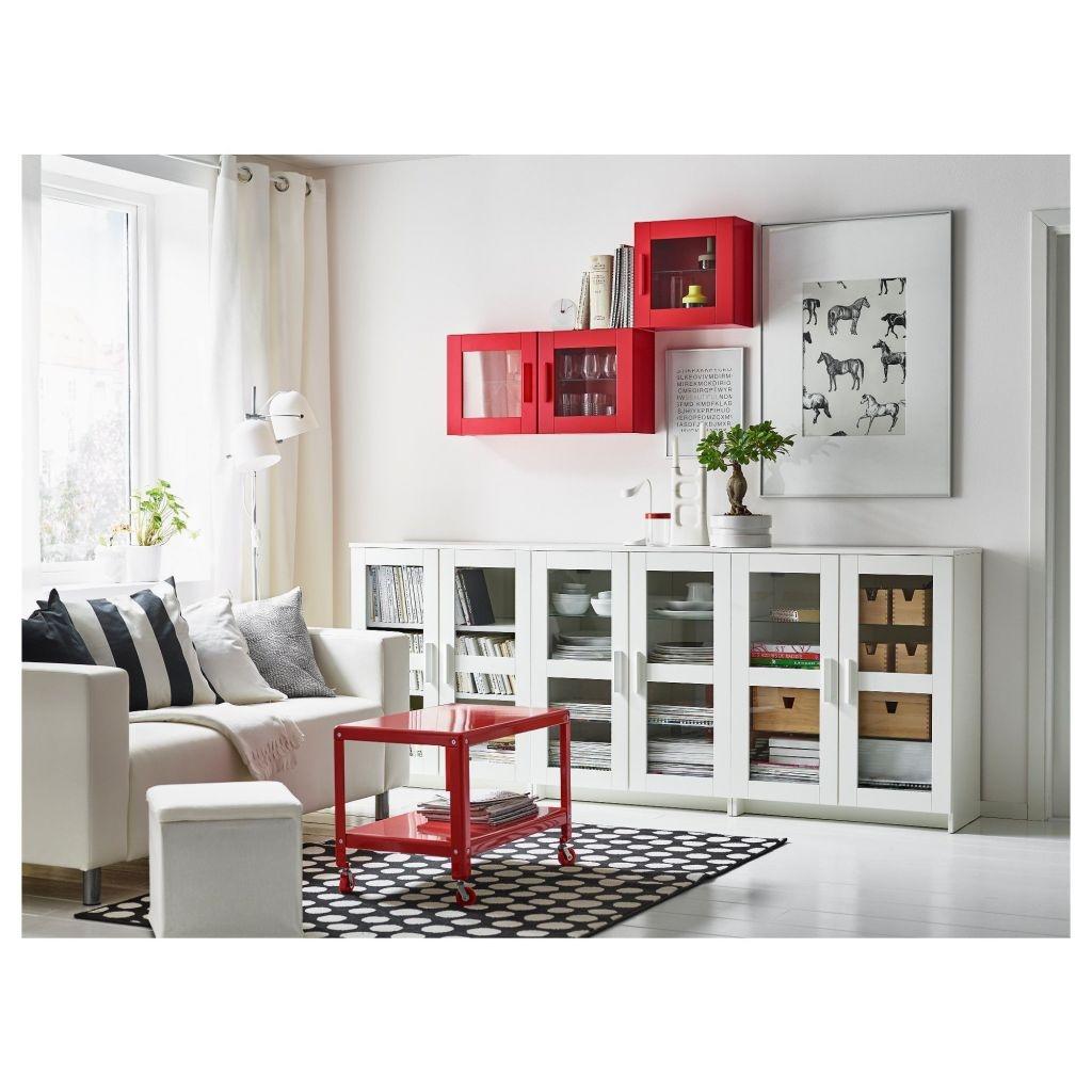 2-в-1: книжный шкаф и, одновременно, буфет