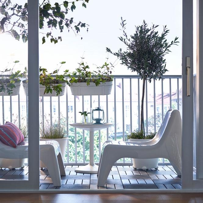 Дизайн балкона: стиль для двоих