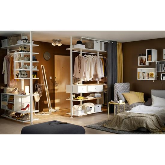 Умное хранение для небольшой спальни