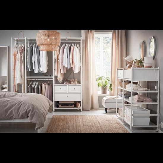 Легкий и элегантный открытый гардероб