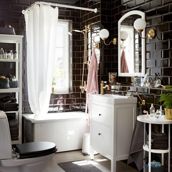 Современная ванная в стиле 20-го века