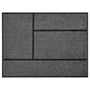 KÖGE придверный коврик серый/черный 69x90 см
