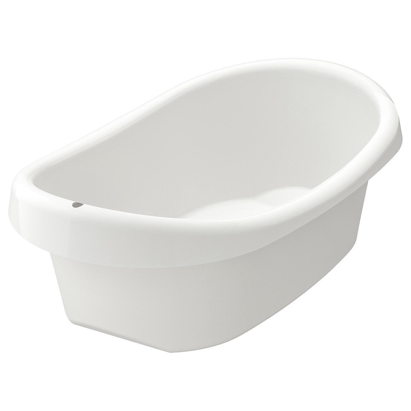 IKEA LÄTTSAM ванночка детская белый/зеленый 43x24 см 402.484.43