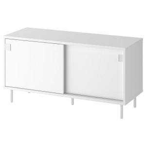 MACKAPÄR скамья с отделениями д/хранения белый 100x35x51 см