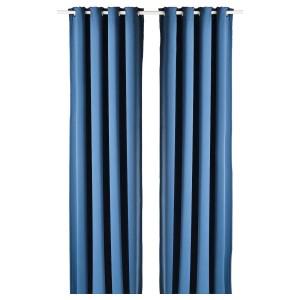 HILLEBORG затемняющие гардины, 2 шт. синий 145x300 см