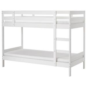 МИДАЛ Двухъярусная кровать, белый, 90x200 см