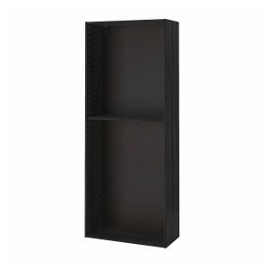 METOD каркас высокого шкафа под дерево черный 80x200 см
