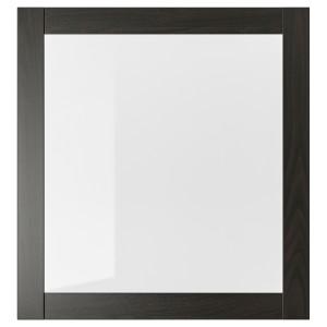 СИНДВИК Стеклянная дверца, черно-коричневый, 60x64 см