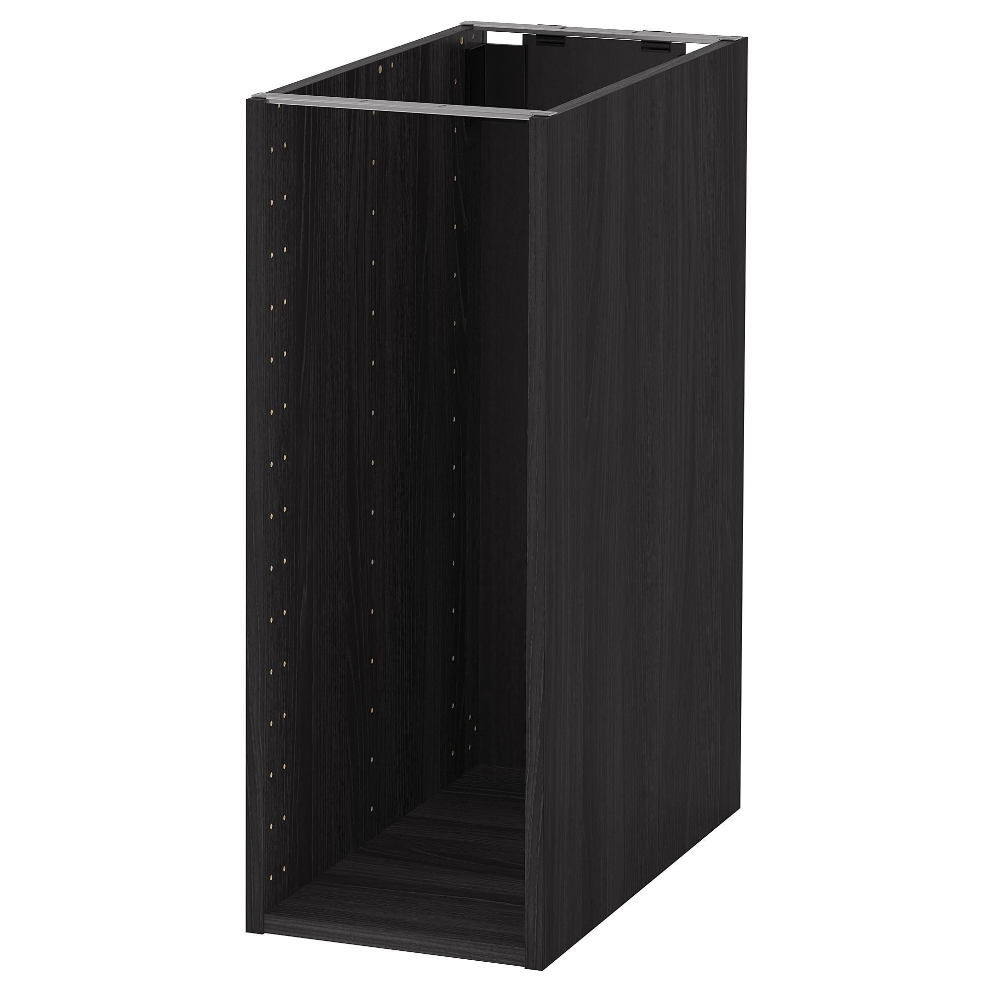 IKEA METOD каркас напольного шкафа под дерево черный 30x80 см 104.172.82