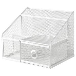 DRÖNJÖNS подставка д/канцелярских принадлежн белый 25x20x20 см
