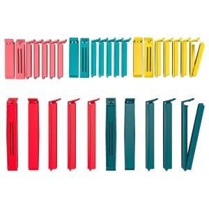 BEVARA зажим для пакетов,30 штук разные цвета/разные размеры разные цвета/разные размеры