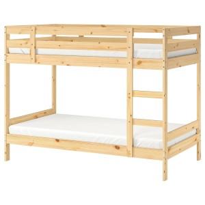 МИДАЛ Двухъярусная кровать, сосна, 90x200 см