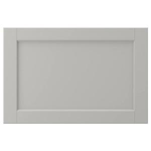 ЛЕРХЮТТАН Дверь, светло-серый, 60x40 см