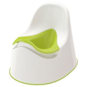 LOCKIG горшок белый/зеленый 27x28 см