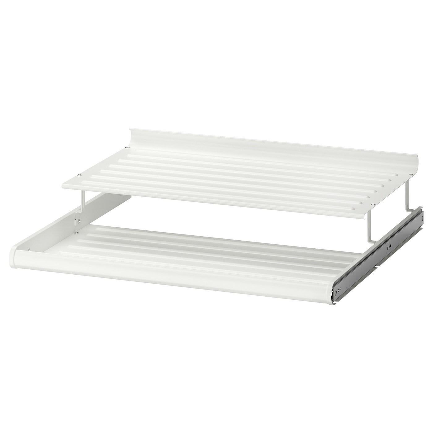 IKEA КОМПЛИМЕНТ Выдвижная полка д/обуви, белый, 75x58 см 302.574.66