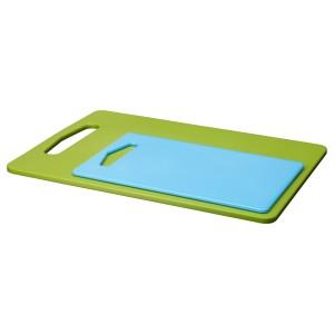 BERGTUNGA Разделочная доска, 2 шт., зеленый, синий