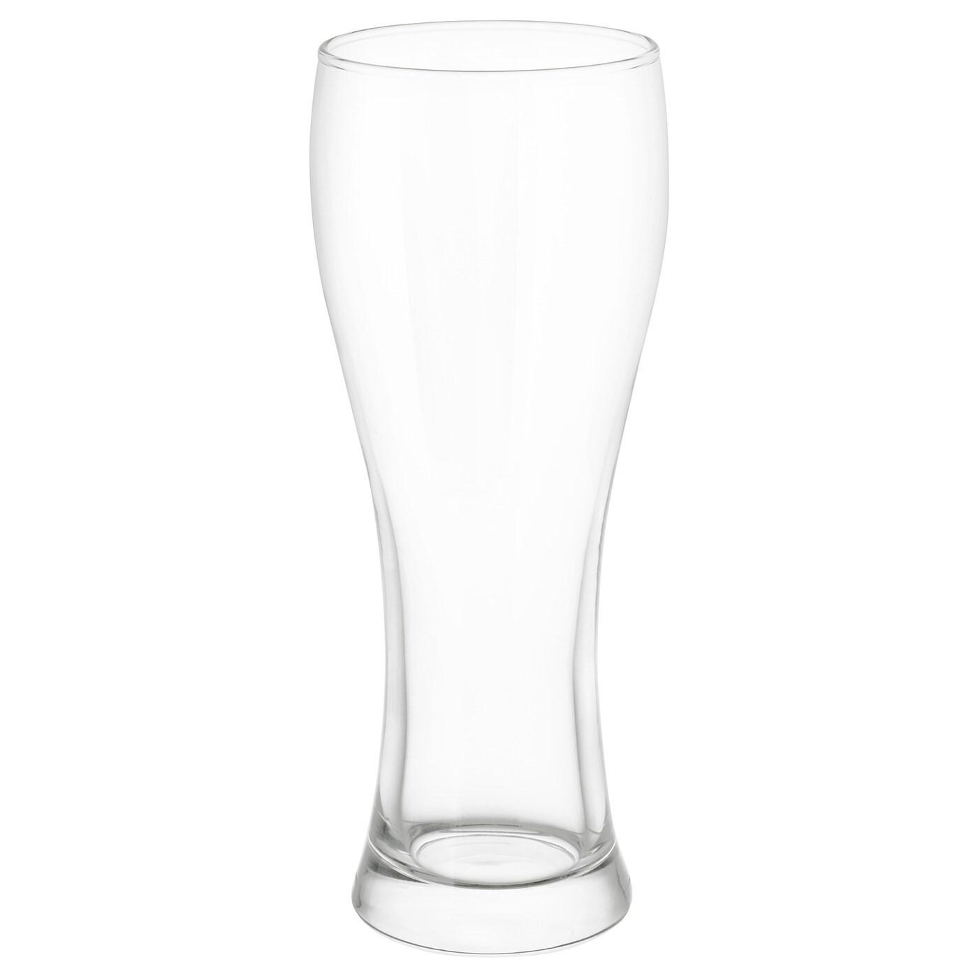 IKEA ОЭНВЕНД Пивной бокал, прозрачное стекло, 63 сл 702.093.36