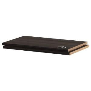 УТРУСТА Полка, древесная структура черный, 60x37 см