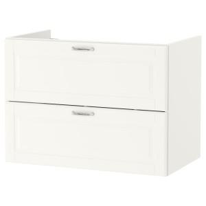 GODMORGON шкаф для раковины с 2 ящ Kasjön белый 80x47x58 см