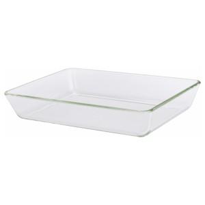 МИКСТУР Форма/блюдо д/дхвк, прозрачное стекло, 35x25 см