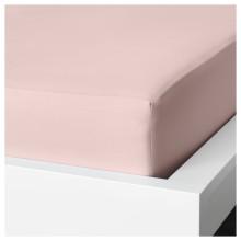 IKEA ДВАЛА Простыня натяжная, светло-розовый, 80x200 см 803.967.66