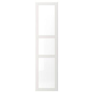 ТИСЕДАЛЬ Дверь, белый, Стекло, 50x195 см