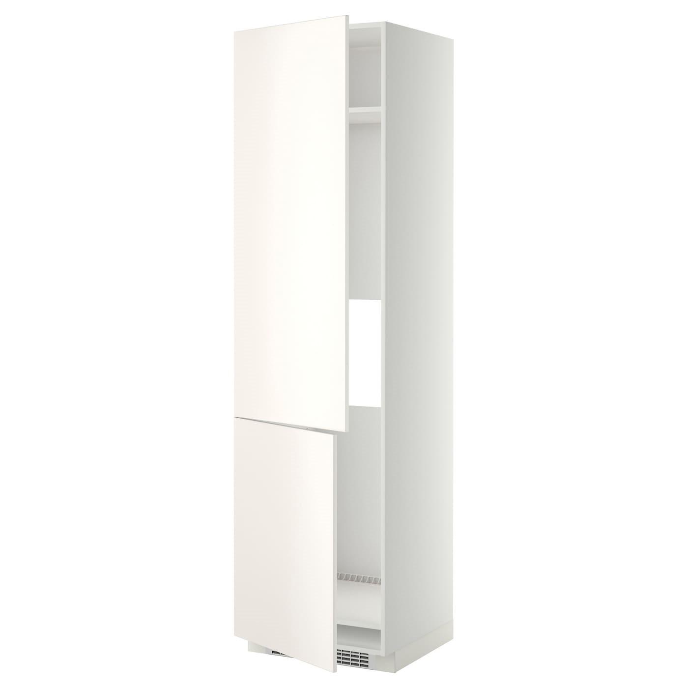 IKEA МЕТОД Высокий шкаф д/холод/мороз/2дверцы, белый, Веддинге белый, 60x60x220 см 499.207.14