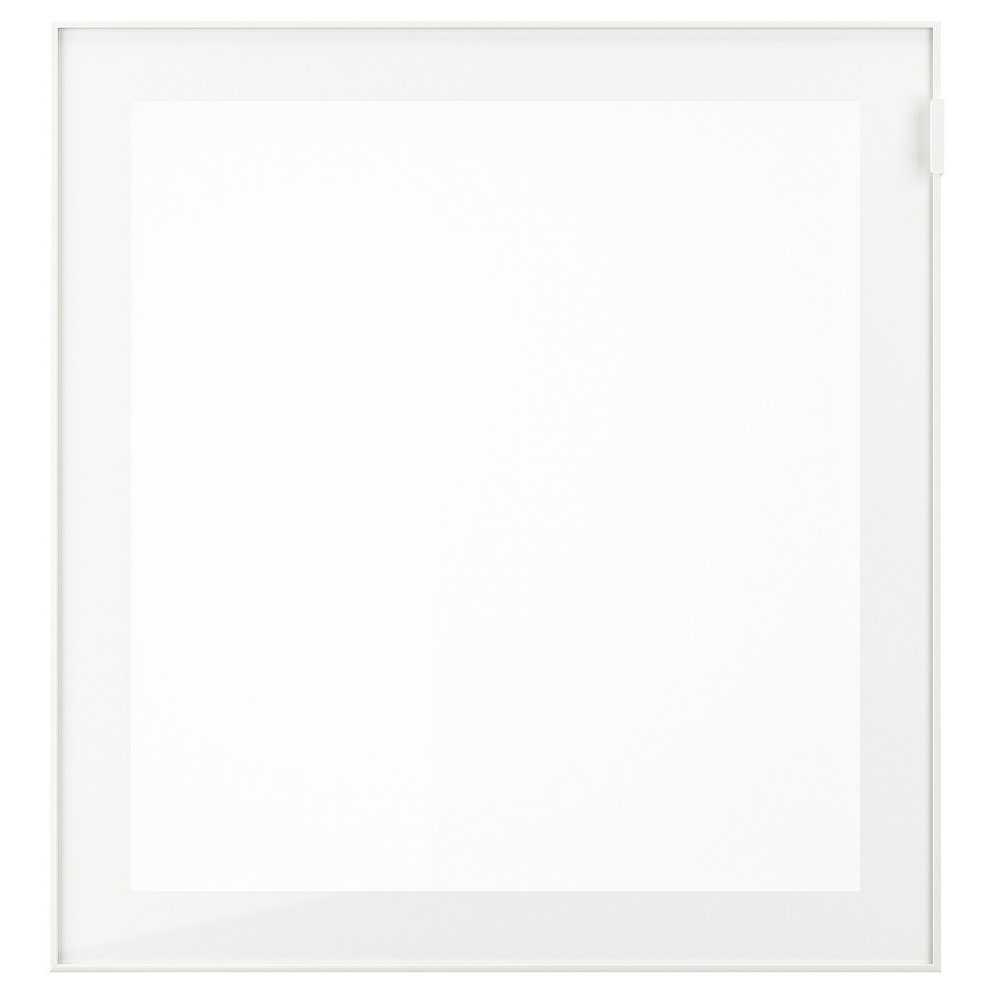 IKEA ГЛАСВИК Стеклянная дверь, белый, матовое стекло, 60x64 см 802.916.65