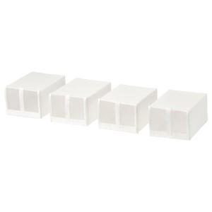 SKUBB СКУББ Коробка для обуви, белый, 22x34x16 см