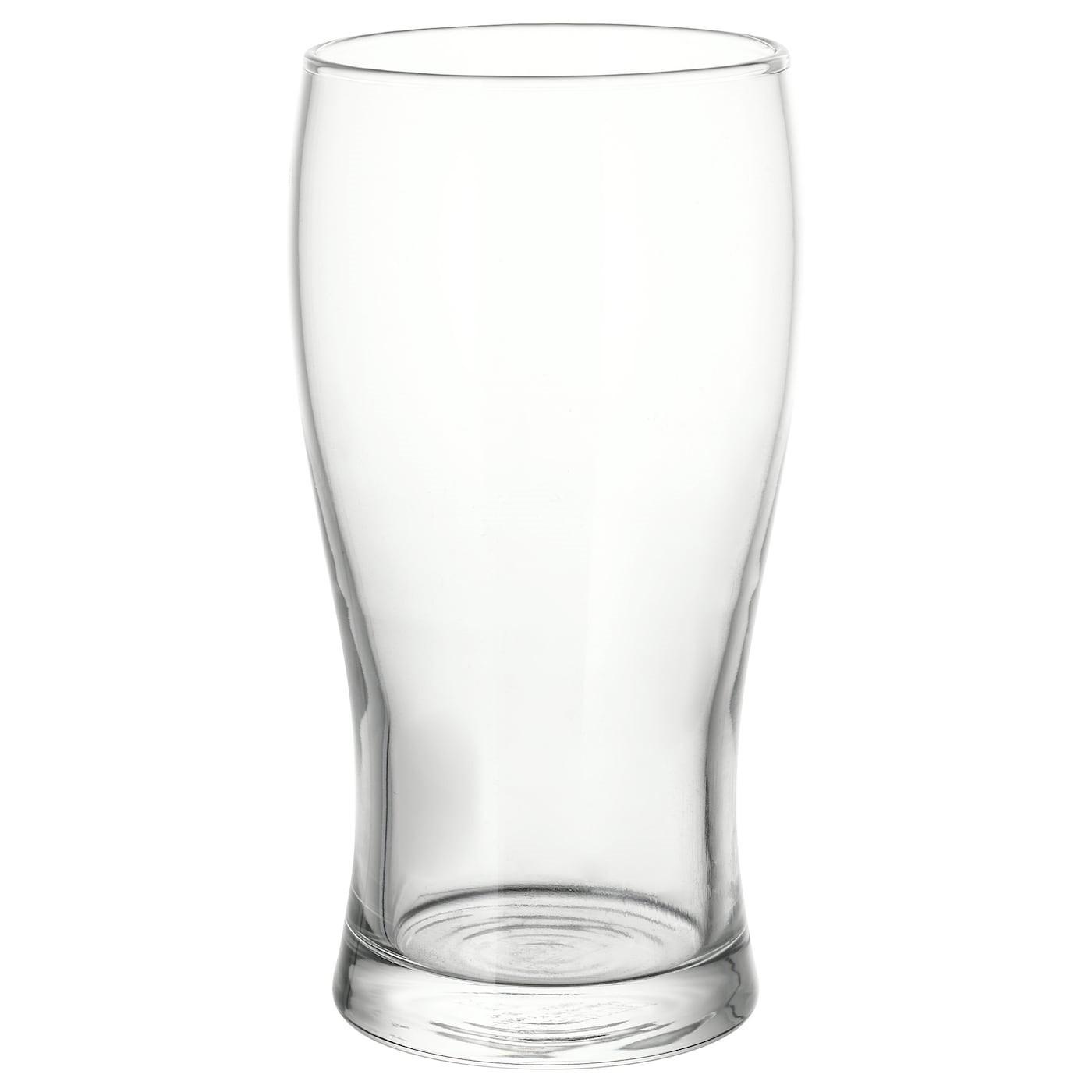 IKEA LODRÄT пивной бокал прозрачное стекло 16 см 502.093.37