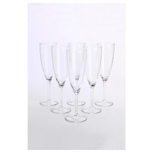 СВАЛЬК Бокал для шампанского, прозрачное стекло, 21 сл