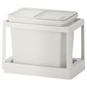 ХОЛЛБАР Решение для сортировки мусора, с выдвижным модулем, светло-серый, 22 л