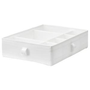 SKUBB СКУББ Ящик с отделениями, белый, 44x34x11 см