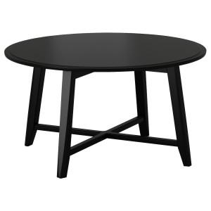 KRAGSTA журнальный стол черный 48x Ø90 см