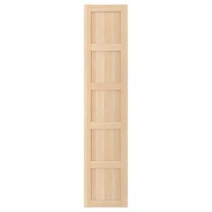 БЕРГСБУ Дверца с петлями, под беленый дуб, 50x229 см