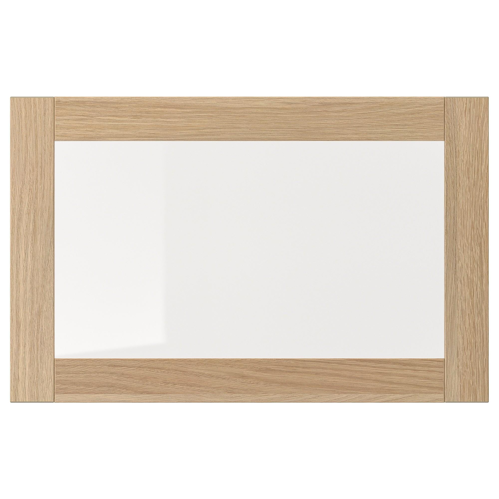 IKEA SINDVIK стеклянная дверь под беленый дуб/прозрачное стекло 60x38 см 502.963.15
