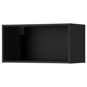 МЕТОД Каркас навесного шкафа, древесная структура черный, 80x37x40 см
