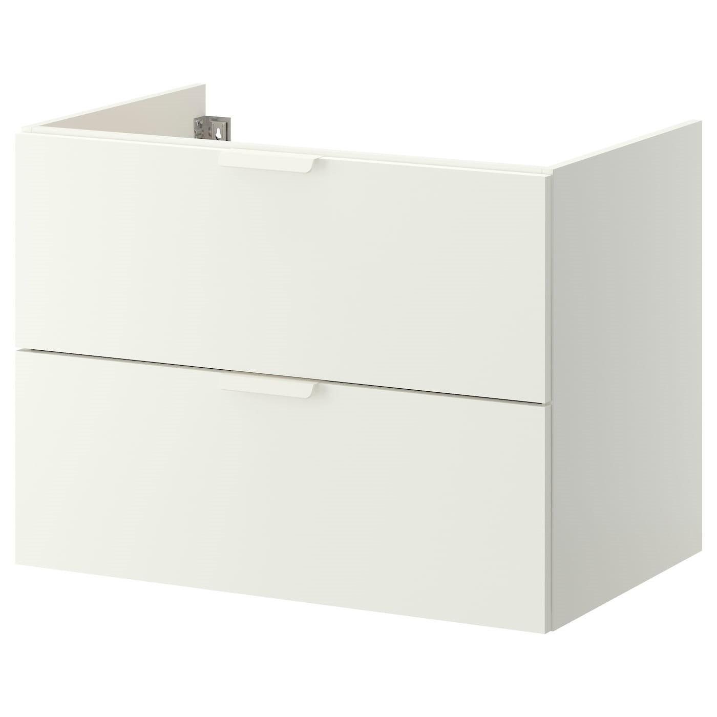 IKEA ГОДМОРГОН Шкаф для раковины с 2 ящ, белый, 80x47x58 см 002.811.04