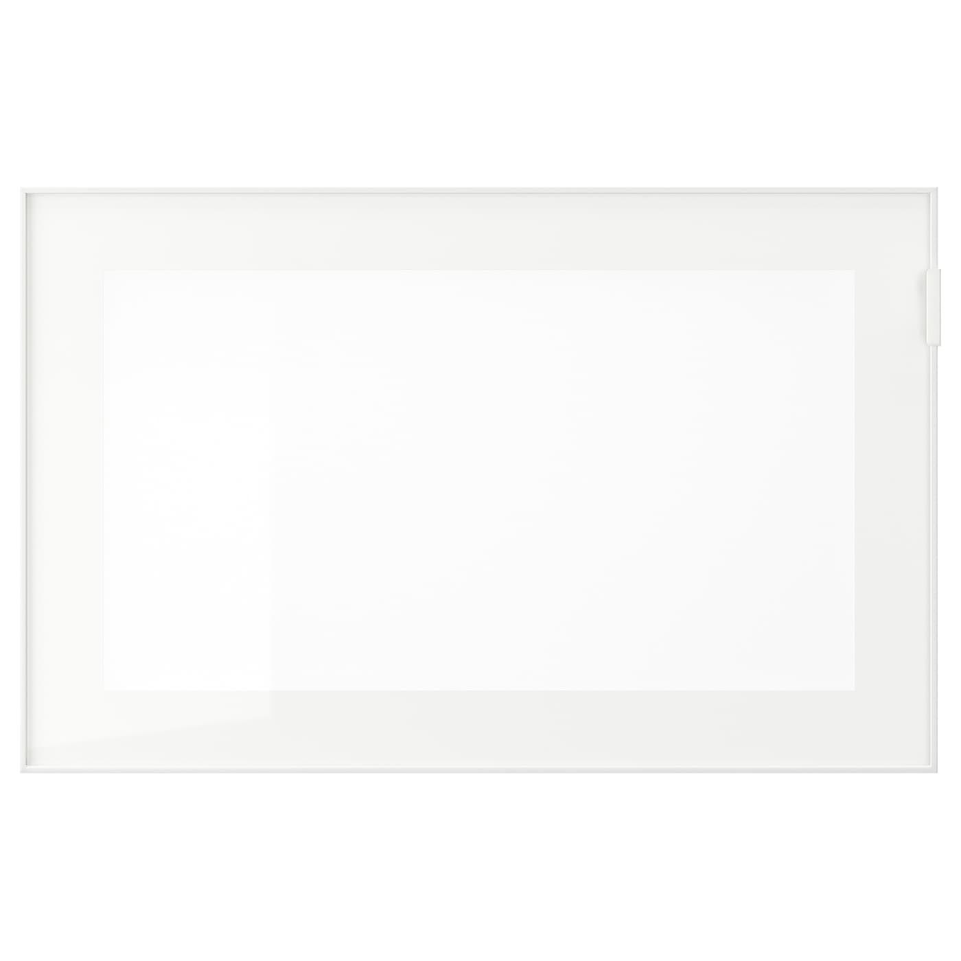 IKEA ГЛАСВИК Стеклянная дверь, белый, матовое стекло, 60x38 см 702.916.56