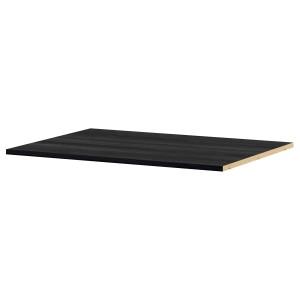 УТРУСТА Полка для угл напольн шкафа, древесная структура, черный, 88 см