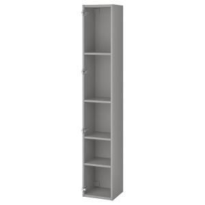 ENHET Высокий шкаф с 4 полками, серый, 30x30x180 см