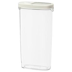 IKEA 365+ контейнер+крышка д/сухих продуктов прозрачный/белый 8x30 см