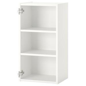 ENHET Подвесной шкаф с 2 полками, белый, 40x30x75 см