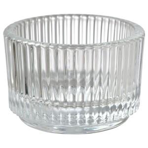 FINSMAK подсвечник для греющей свечи прозрачное стекло 3.5x Ø5 см
