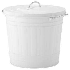 КНОД Металлическая корзина с крышкой, белый 16 л